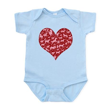 Horsey Heart Infant Bodysuit