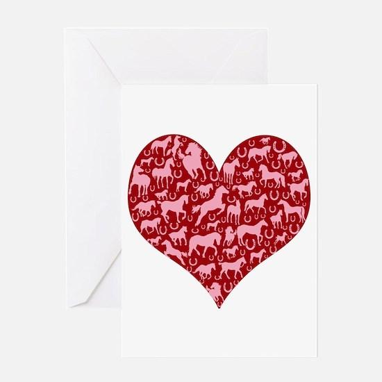 Horsey Heart Greeting Card