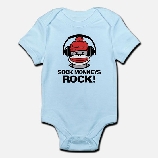Sock Monkeys Rock Infant Bodysuit