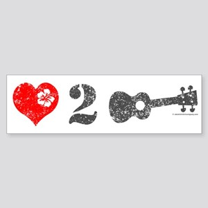 Love 2 Ukulele Sticker (Bumper)