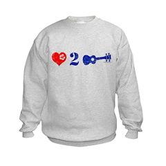 Love 2 Ukulele Blue Sweatshirt