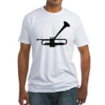 Dizzy's Horn Dark Silhouette Fitted T-Shirt