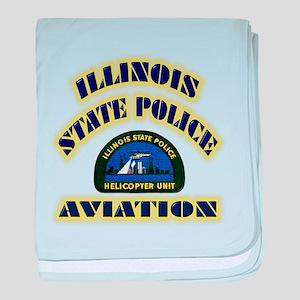 Illinois State Police Aviatio baby blanket
