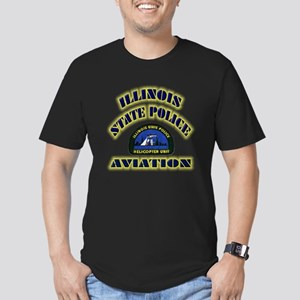 Illinois State Police Aviatio Men's Fitted T-Shirt