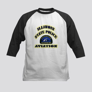 Illinois State Police Aviatio Kids Baseball Jersey