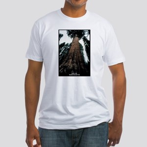 Sequoia National Park Tree (Front) Fitted T-Shirt