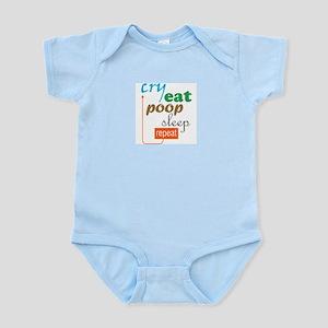 Cry Eat Poop Sleep Repeat (Infant bodysuit)