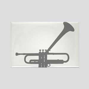 Dizzy's Horn Silver Silhouett Rectangle Magnet
