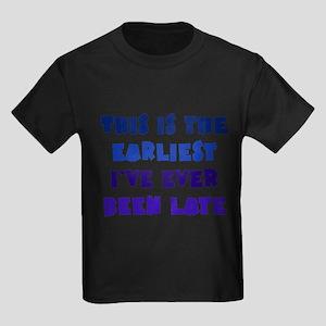 Earliest I've Been Late Kids Dark T-Shirt