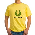 Love 2 Fish Yellow T-Shirt