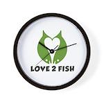 Love 2 Fish Wall Clock