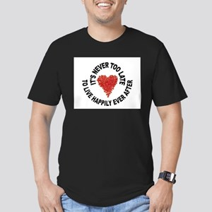 LOVE CONQUERS ALL Men's Fitted T-Shirt (dark)
