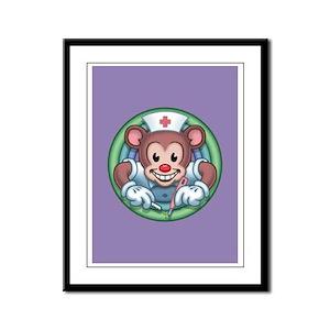 Nursey Bear Framed Panel Print