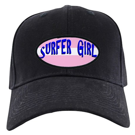Surfer Girl Black Cap