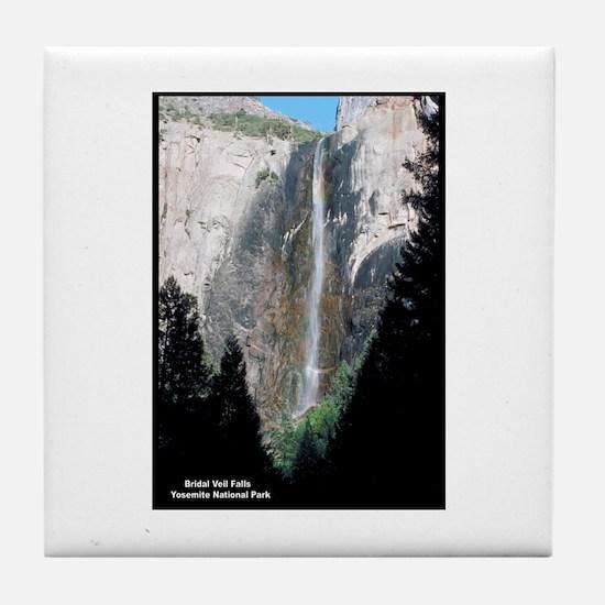 Yosemite Bridal Veil Falls Tile Coaster