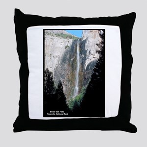 Yosemite Bridal Veil Falls Throw Pillow