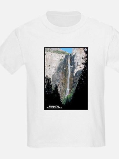Yosemite Bridal Veil Falls (Front) Kids T-Shirt