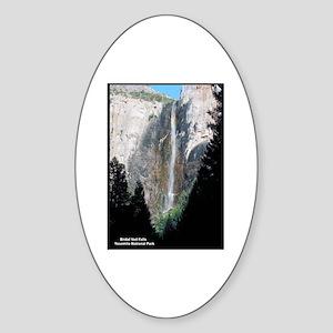 Yosemite Bridal Veil Falls Oval Sticker