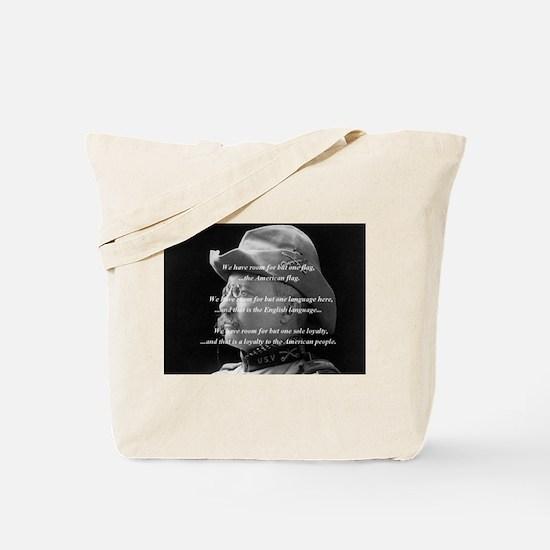 "Teddy Roosevelt ""One Flag"" Tote Bag"