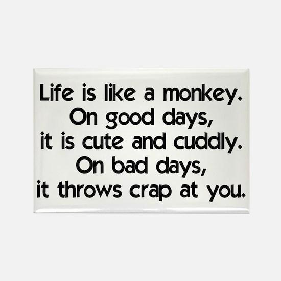 Life is like a monkey Rectangle Magnet