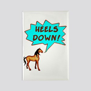 Heels Down with Horse Rectangle Magnet