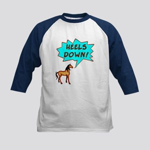 Heels Down with Horse  Kids Baseball Jersey