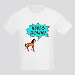 Heels Down with Horse  Kids T-Shirt