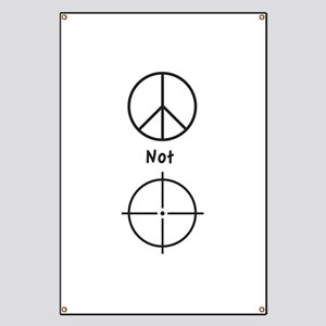 Peace Not Violence - Banner