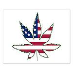 Pot Leaf Flag Small Poster