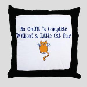 A little Cat Fur Throw Pillow