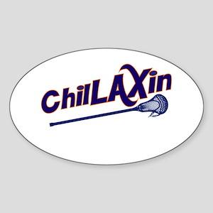 ChilLAXin Lacrosse Sticker (Oval)