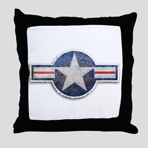 USAF US Air Force Roundel Throw Pillow