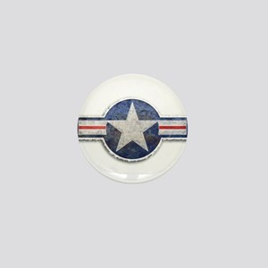 USAF US Air Force Roundel Mini Button