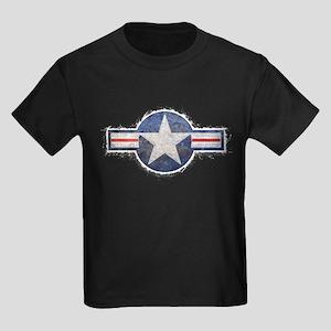 USAF US Air Force Roundel Kids Dark T-Shirt