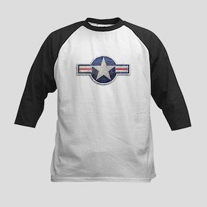 USAF US Air Force Roundel Kids Baseball Jersey