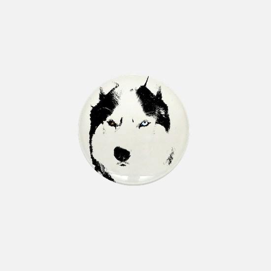 Siberian Husky Sled Dog Mini Button