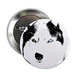 "Siberian Husky Sled Dog 2.25"" Button"
