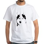 Siberian Husky Sled Dog White T-Shirt