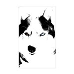 Siberian Husky Sled Dog Sticker (Rectangle 50 pk)