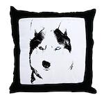 Siberian Husky Sled Dog Throw Pillow