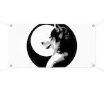 Siberian Husky Sled Dog Banner