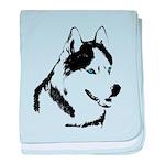 Siberian Husky Sled Dog baby blanket
