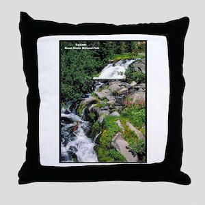 Mount Rainier Cascade Throw Pillow