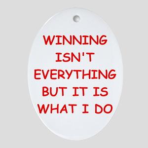 winner Ornament (Oval)