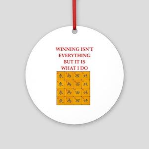 funny mahjong Ornament (Round)