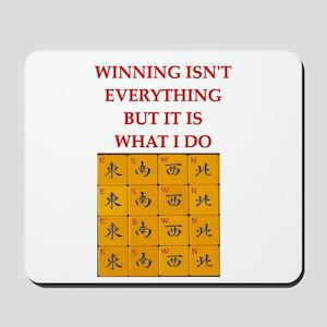 funny mahjong Mousepad