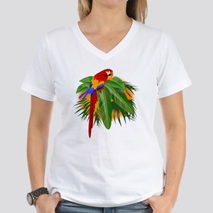 Parrot Women's V-Neck T-Shirt
