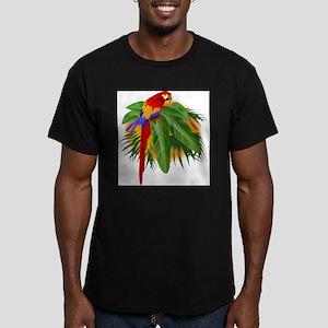 Parrot Men's Fitted T-Shirt (dark)