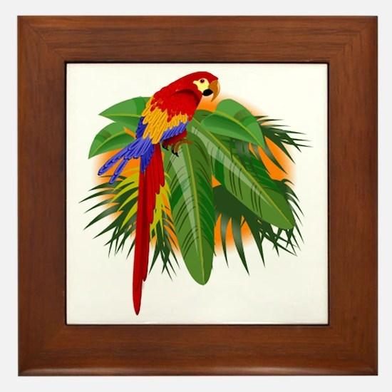 Parrot Framed Tile