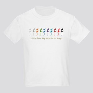10 hurdles a day Kids Light T-Shirt